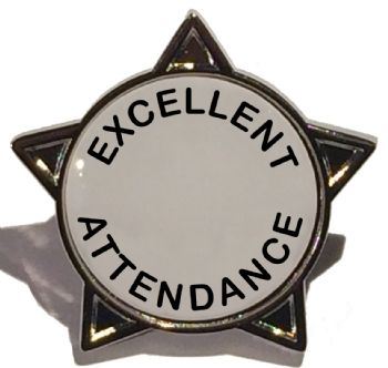 EXCELLENT ATTENDANCE star badge